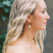 Handmade Adele Earrings in Gold Plated Sterling with Moonstone by Katie Poterala Jewelry, Bridesmaid earrings for the contemporary bride