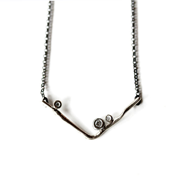 Kaitlyn Necklace - White Gold