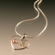 Abacus Heart Pendant - small
