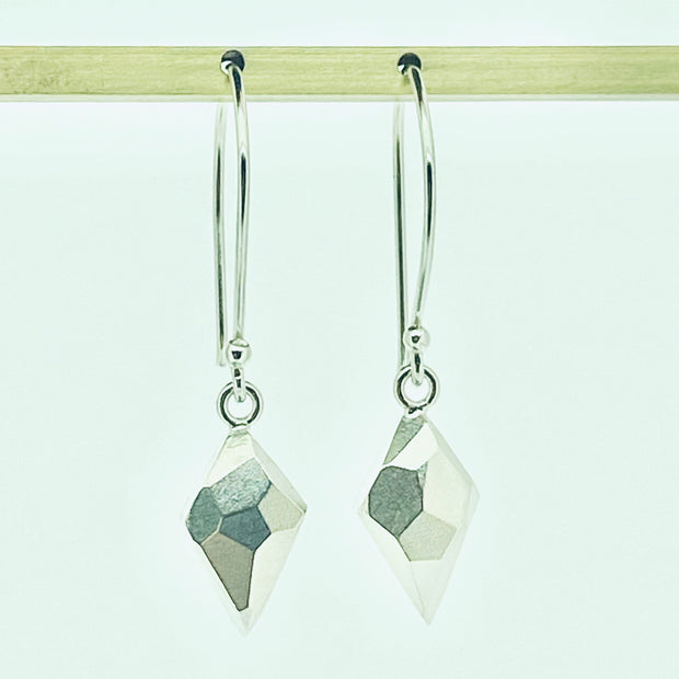 Faceted dangle earrings - diamond