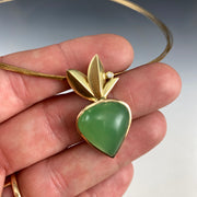 Chrysoprase - Bloom Pendant