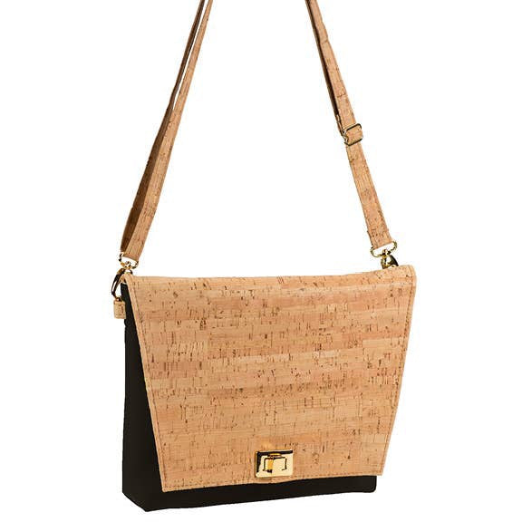 Be Chic Small Messenger Bag - Rustic Cork