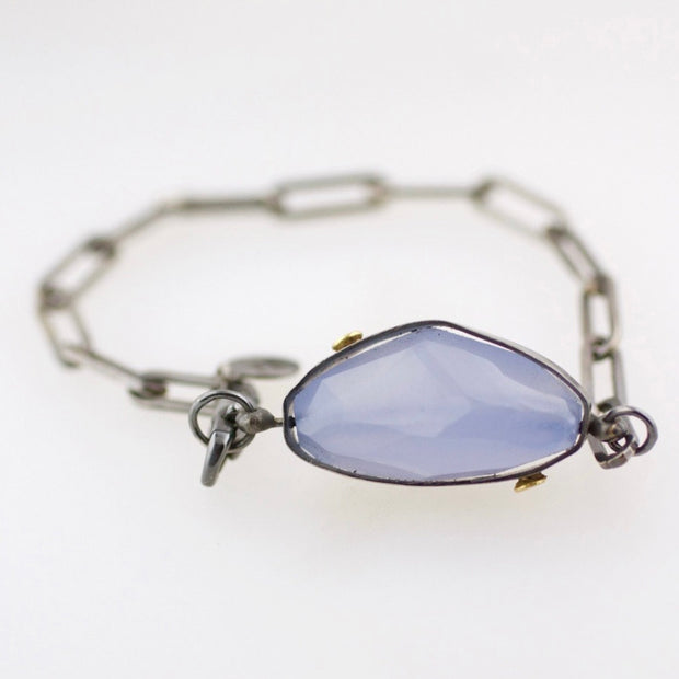 Blue Lace Agate Swivel Bracelet