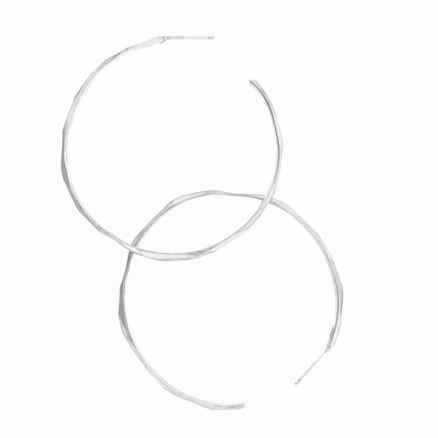 Faceted Hoop Earrings - large