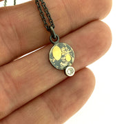 Lichen Circle moissanite pendant