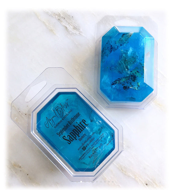 Birthstone Mineral Soap - September - Sapphire