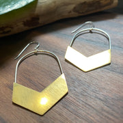 Chevron - Brass Earrings
