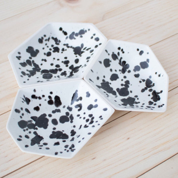 Geometric Ring Dish - Ink Spots