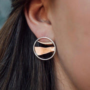 Horizon Line Stud Earrings