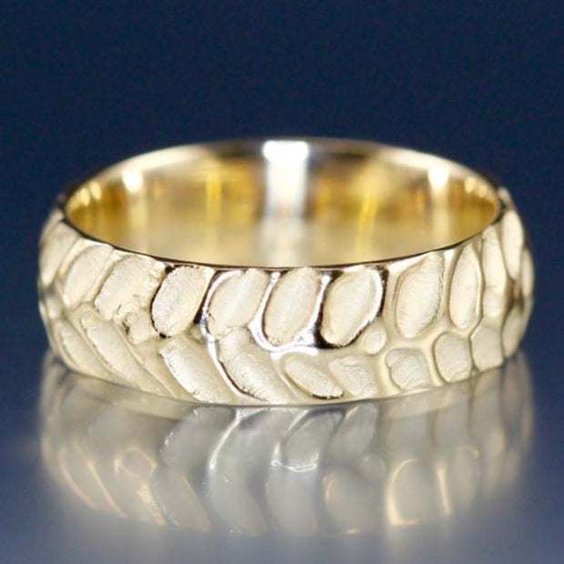 Men's Cobblestone Ring  - white, yellow or rose gold