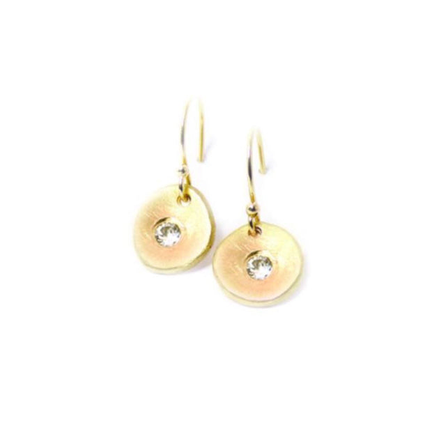 Serendipity Dangle Earrings with Diamonds - 14k Gold