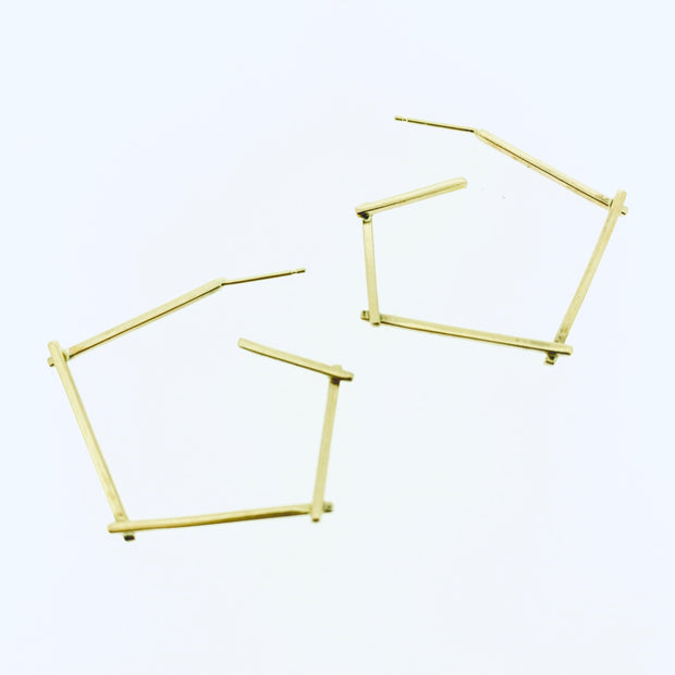 Small Sticks Hoop Earrings