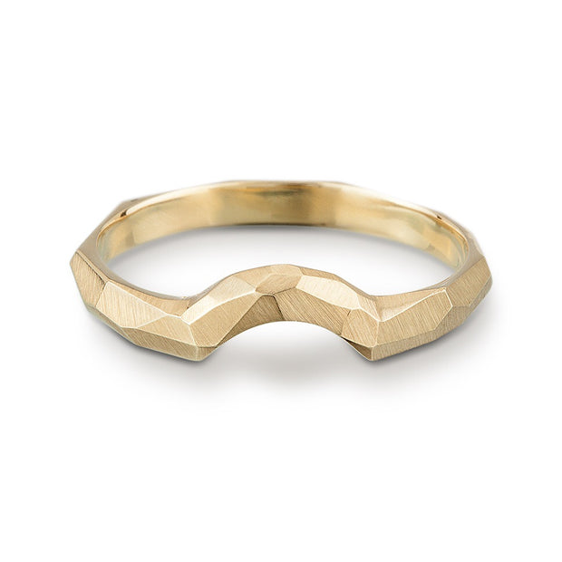 Contoured Facet Ring