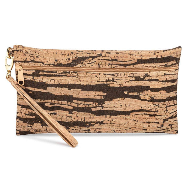 Be Ready - Large Wristlet - Bark Cork