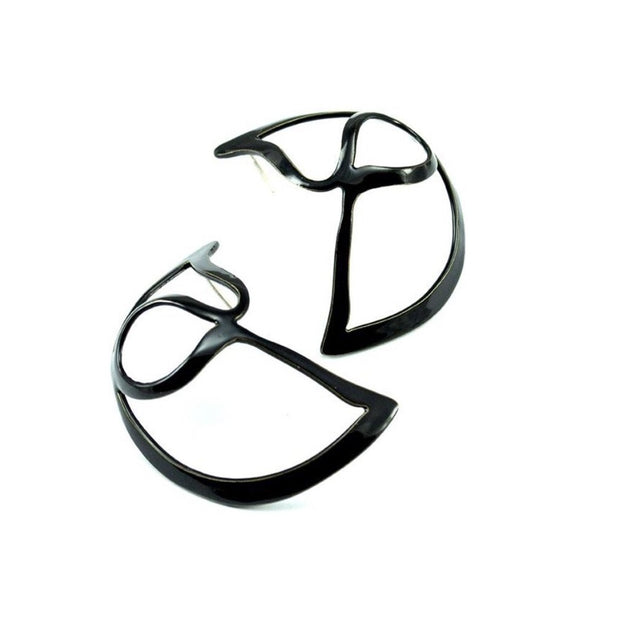 Open Weave Large Scoop Hoop - Earring