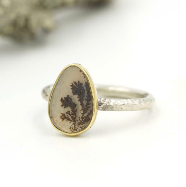 Luxe Stacking ring - Dendritic Agate