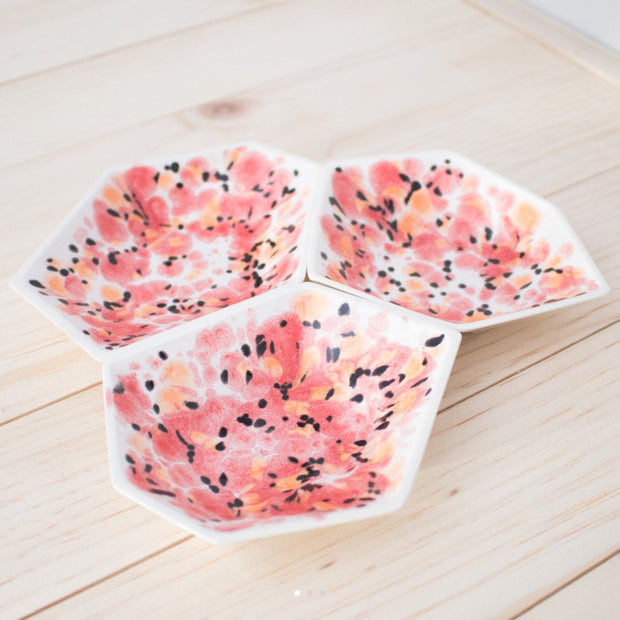 Geometric Ring Dish - Poppy