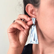 Tapered Baguette Diamond Illustration - Large Drop Earring