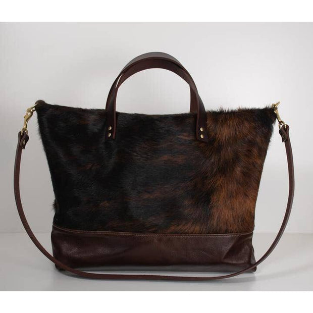 Ari Tote Bag - Brindle Cowhide
