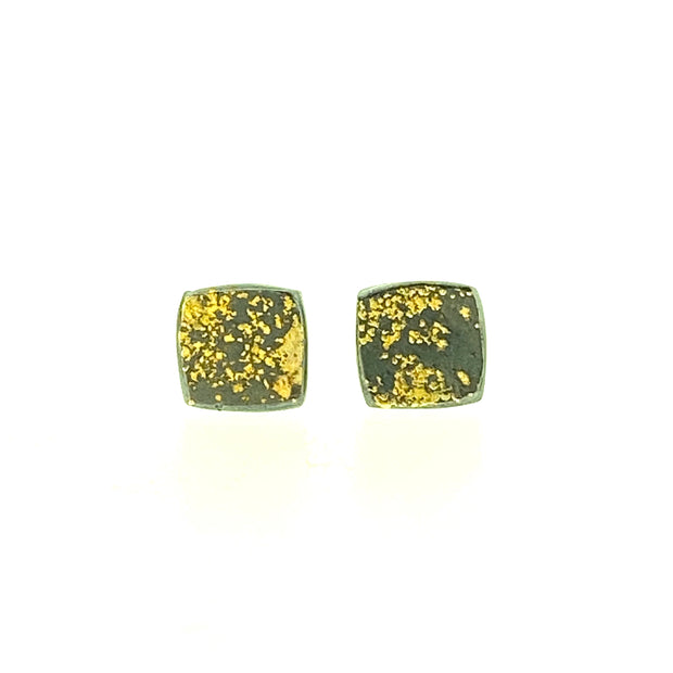 Lichen Cushion Square Earrings