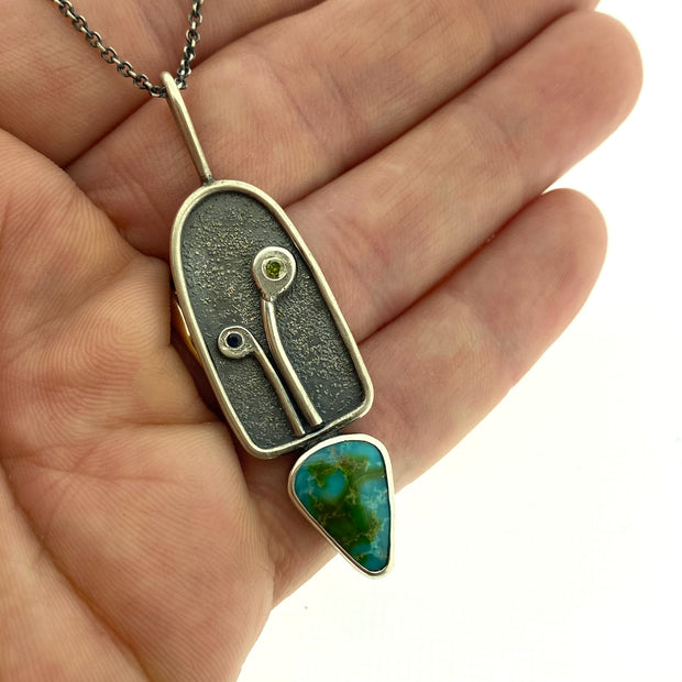 Fused Sprout - Sonora Gold Turquoise pendant