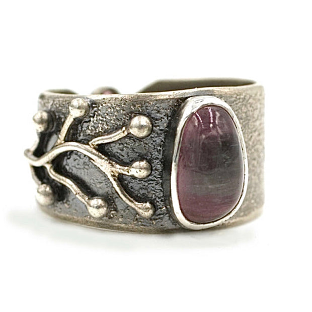 Sprout Watermelon Tourmaline Branch Ring