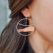 Horizon Line Hoop Earrings