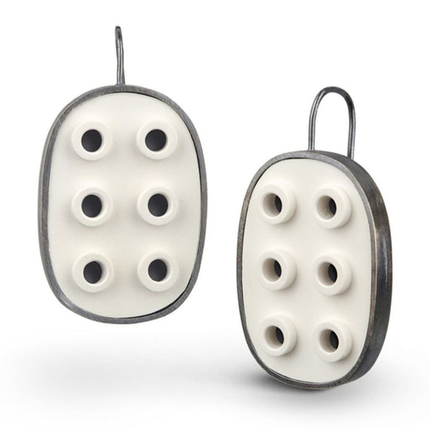 Oval LEGO® Negative Space Earring
