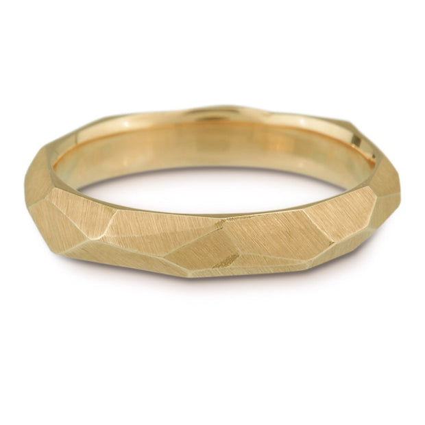 Women's Facet Ring - 4mm wide