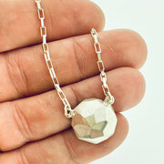 Faceted large dome pendant