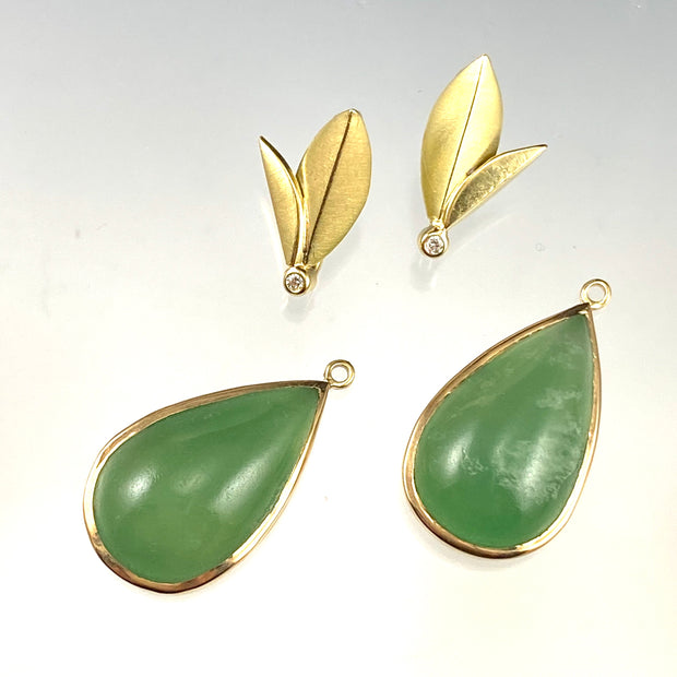 Chrysoprase - Convertible Bloom Earrings