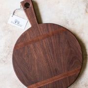 "12"" Round Walnut Cutting Board with Inlay"