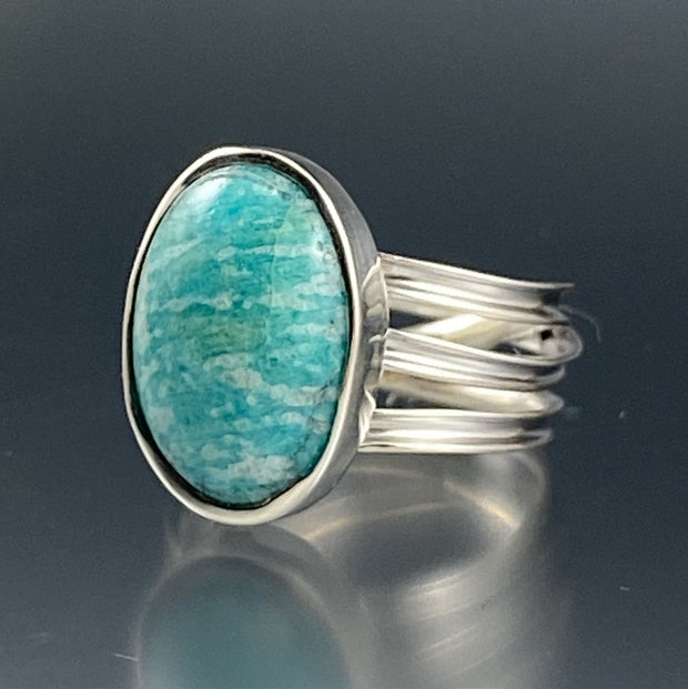 Amazonite Wrap Ring