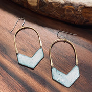 Chevron - Enamel Earrings
