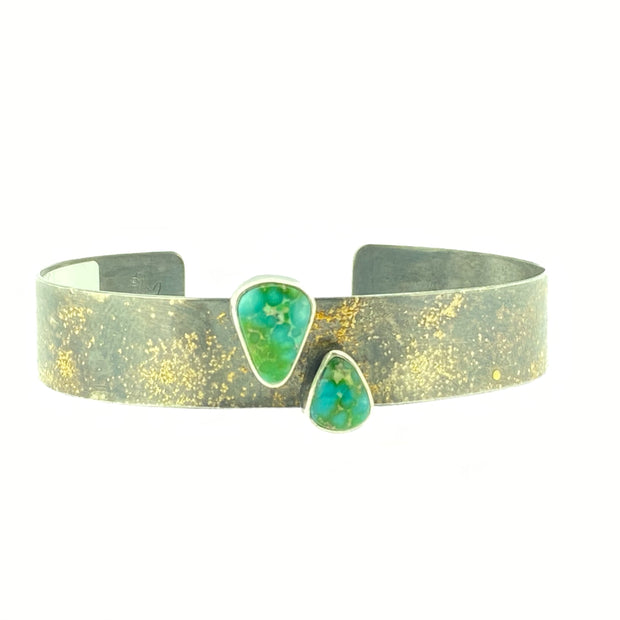 Twin Sonora Gold Turquoise Cuff