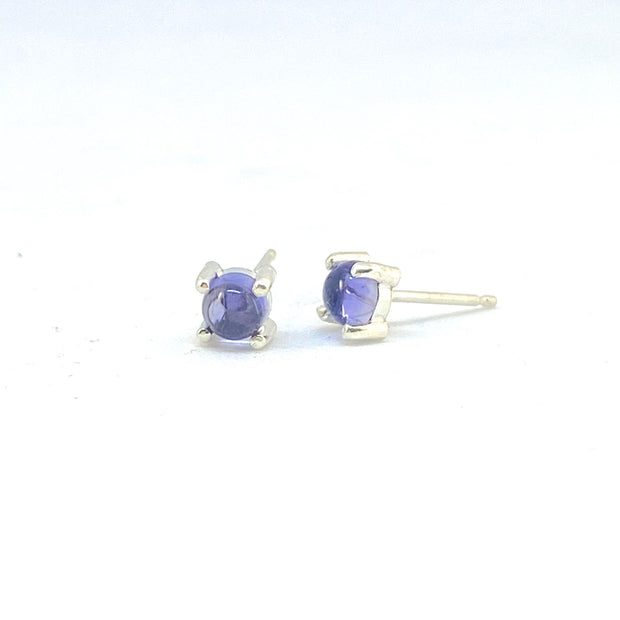Tiny Round Stud Earrings