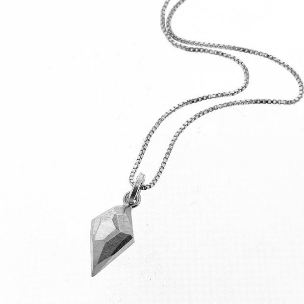 Faceted dainty pendant