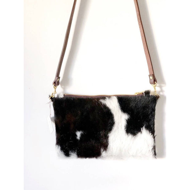 Wylie - Cross Body Cowhide Bag - Tri Color