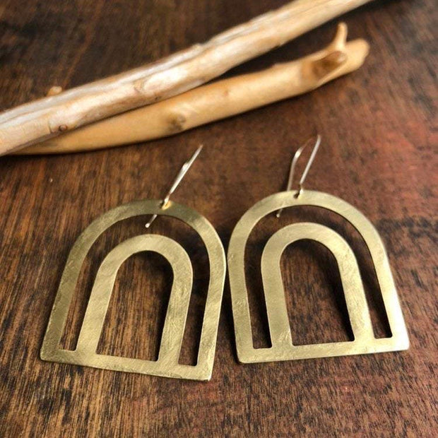 Golden Bow Dangle Earrings
