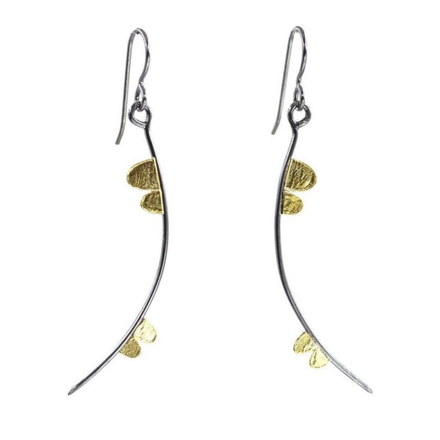 Lichen Petal Curved Stick Earrings