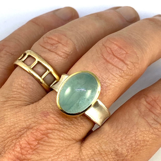 Aquamarine Valley Ring