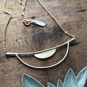 Half Moon Horizon Line Necklace
