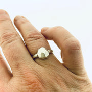 Faceted small dome ring