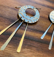 2/27/21 PM - Stamped Boho Fringe Earrings - MAKE + SIP CLASS