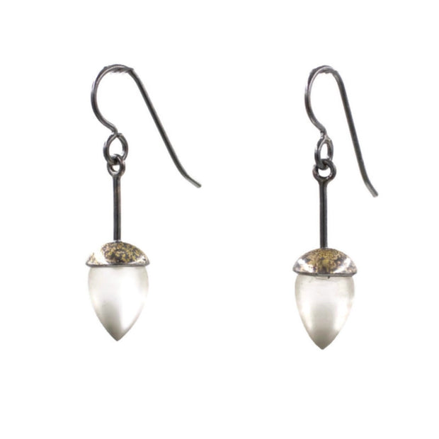 Honed Quartz drop earrings