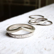 10/24/20 - Silver Stackable Rings - MAKE + SIP CLASS