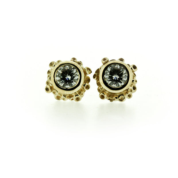 Talialita Diamond or Moissanite Stud Earrings