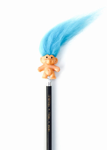 Blue Troll Pencil