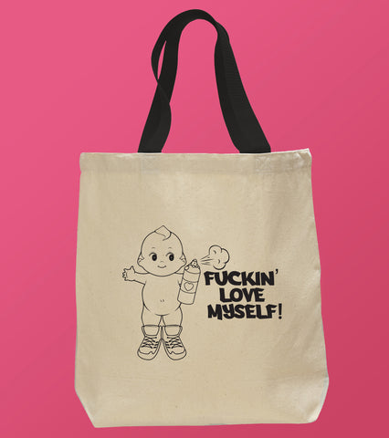 Naughty Kewpie Doll Love Tote