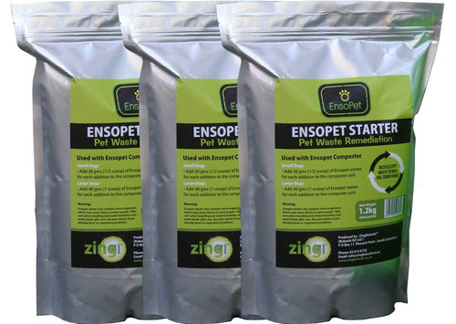 Ensopet Pet Waste Starter 1.2kg – 3 bags - Growing Potential